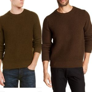 (VINCE) Chunky Knit Wool & Cashmere Green Sweater